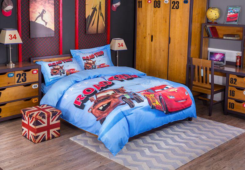 Cars Toddler Bed Set: Disney Pixar Cars Movie Lightning McQueen & Mater Bedding