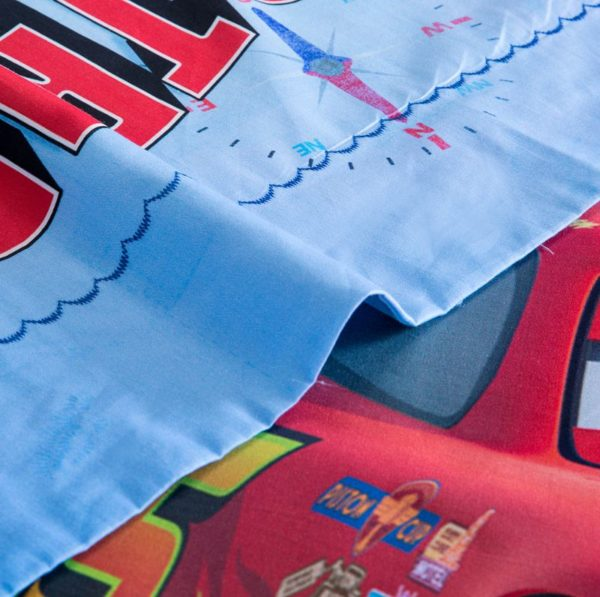 Disney Pixar Cars Movie Lightning McQueen Mater Bedding Set 6 600x597 - Disney Pixar Cars Movie Lightning McQueen & Mater Bedding Set