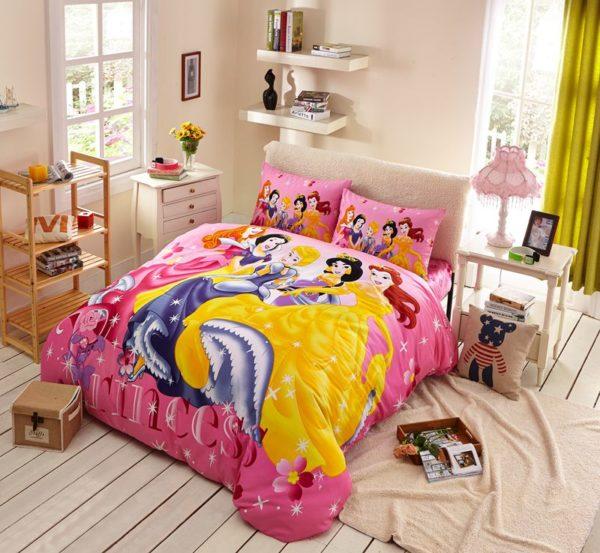 Disney Princess Bedding Set Twin Queen Size 1