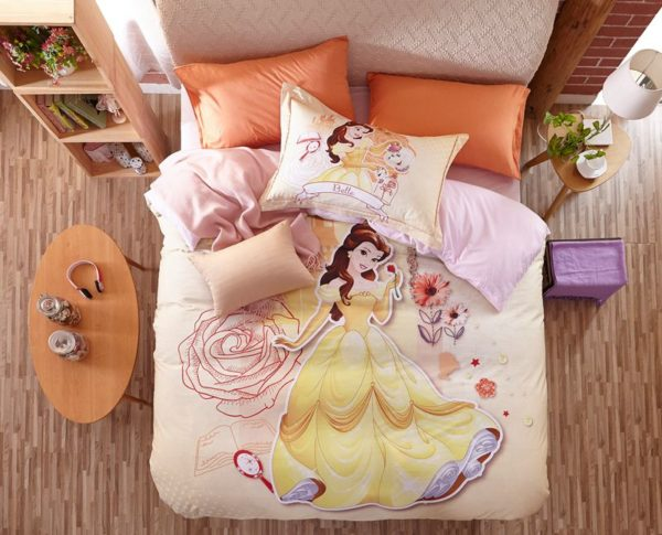 Disney Princess Belle Bedding Set for Kids Girls Teens 1 600x485 - Disney Princess Belle Bedding Set for Kids Girls & Teens
