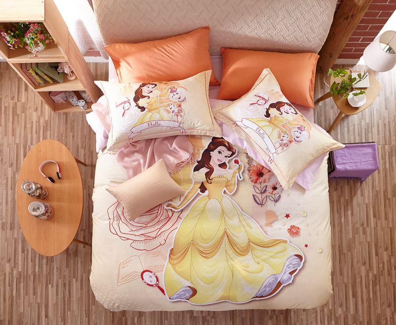 Disney Princess Belle Bedding Set For Kids Girls Teens