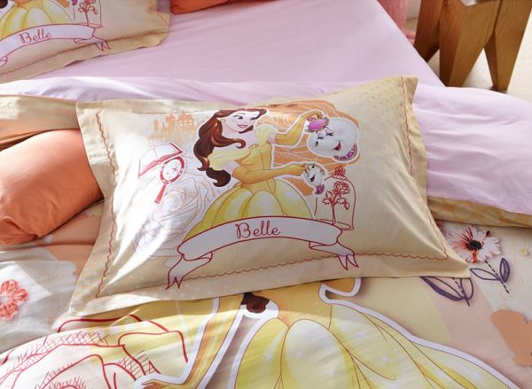 Disney Princess Belle Bedding Set for Kids Girls Teens 5 600x439 - Disney Princess Belle Bedding Set for Kids Girls & Teens