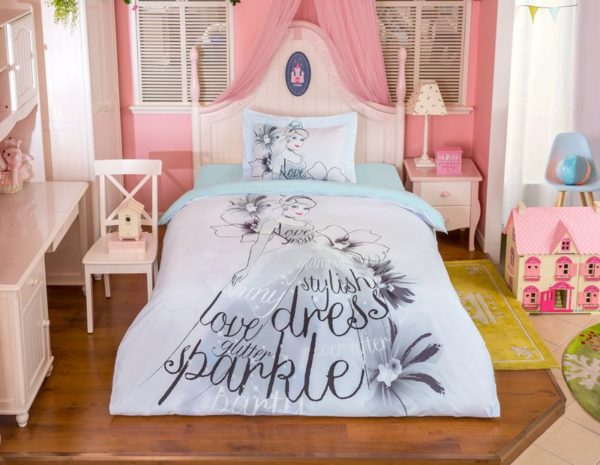Disney Princess Cinderella Stencil Art Bedding Set