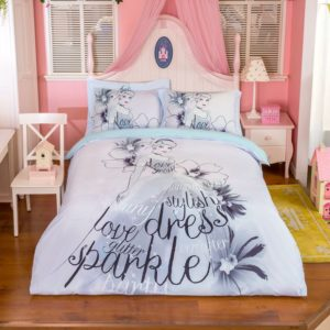 Disney Princess Cinderella Stencil Art Bedding Set