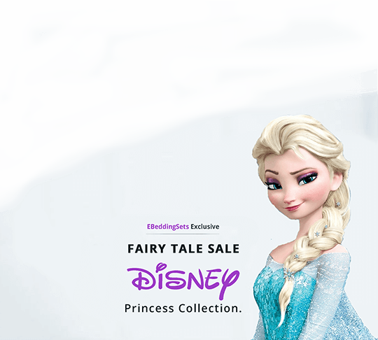 Disney Princess Collection Sale - Romantic Love Story White Embroidery Bedding Set