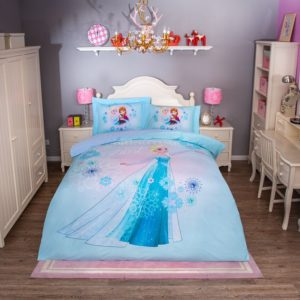 Disney Princess Elsa Sky Blue Bedding Set (1)