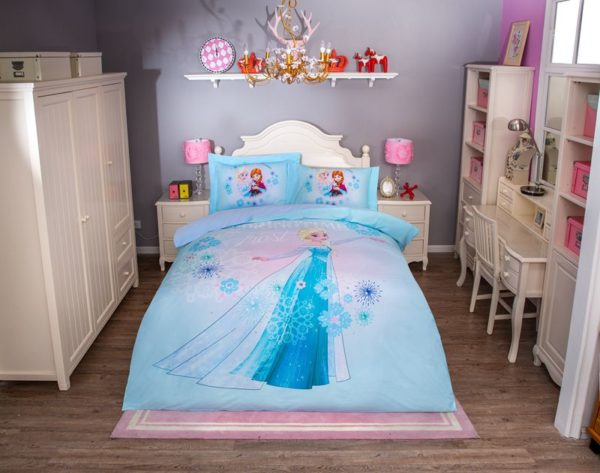 Disney Princess Elsa Sky Blue Bedding Set (1)