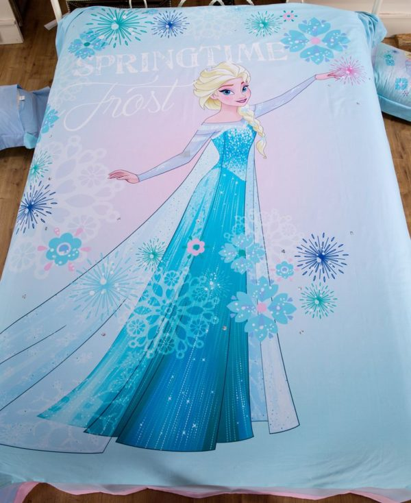 Disney Princess Elsa Sky Blue Bedding Set 2 1