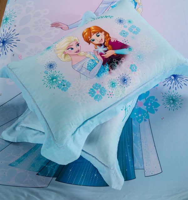 Disney Princess Elsa Sky Blue Bedding Set 3