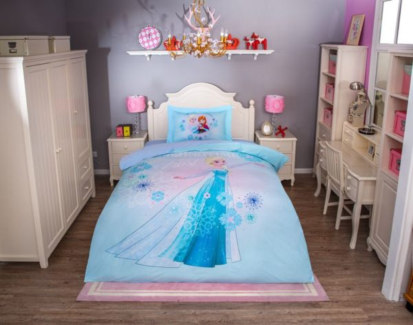 Disney Princess Elsa Sky Blue Bedding Set 8