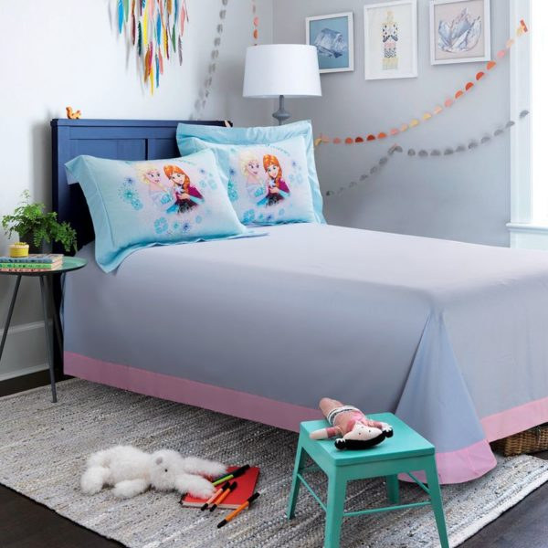 Disney Princess Elsa Sky Blue Bedding Set 9