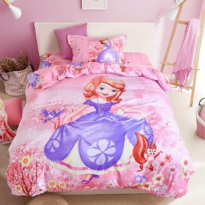 Disney Princess Bedspreads Set for Teenage Girls Bedroom