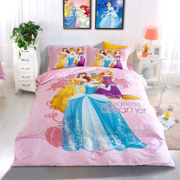 Disney Princess girls room bedding Set 1 600x600 - Disney Princess Girls Room Bedding Set