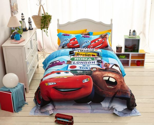 Disney Cars and Trucks Bedding Set Twin Queen Size