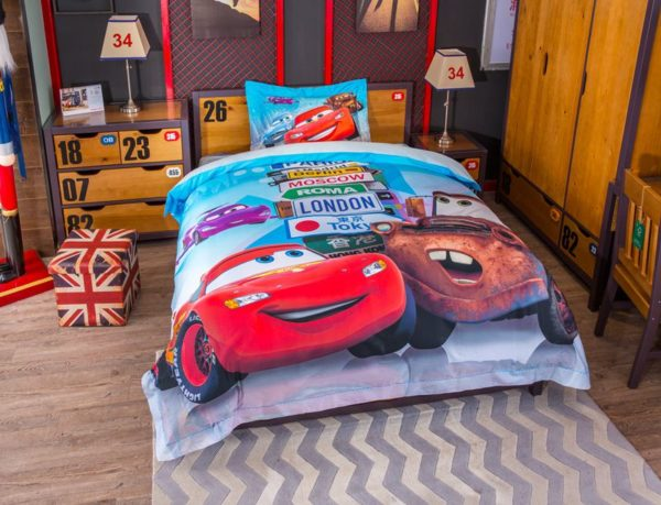 Disney cars and trucks bedding set Twin Queen Size 3 600x459 - Disney Cars and Trucks Bedding Set Twin Queen Size