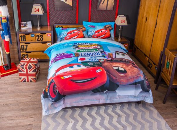 Disney cars and trucks bedding set Twin Queen Size 4 600x440 - Disney Cars and Trucks Bedding Set Twin Queen Size