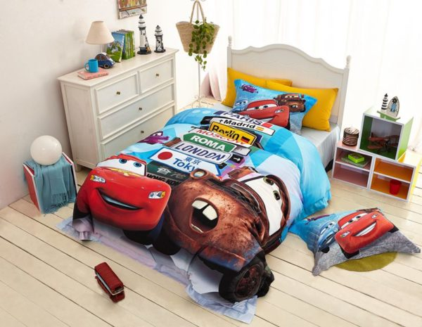 Disney cars and trucks bedding set Twin Queen Size 5 600x465 - Disney Cars and Trucks Bedding Set Twin Queen Size