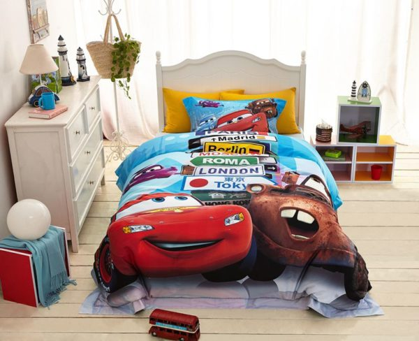 Disney cars and trucks bedding set Twin Queen Size 6 600x488 - Disney Cars and Trucks Bedding Set Twin Queen Size