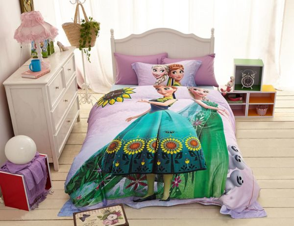 Disney elsa and anna birthday gift For Girls Bedding Set 1 600x460 - Disney Elsa and Anna Birthday Gift for Girls Bedding Set