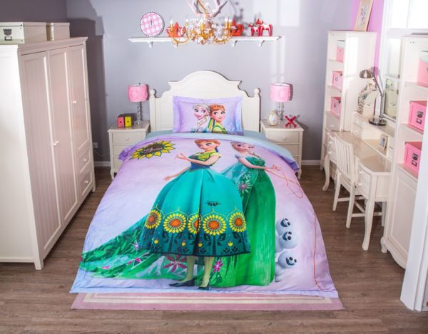 Disney elsa and anna birthday gift For Girls Bedding Set 11