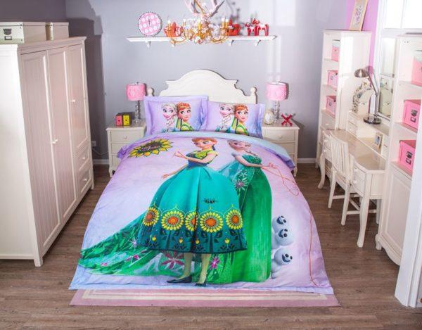 Disney elsa and anna birthday gift For Girls Bedding Set 12