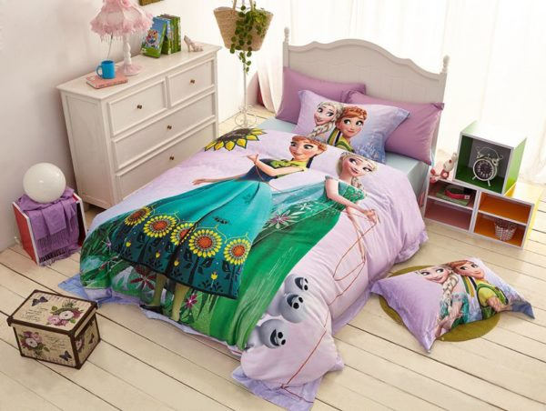 Disney elsa and anna birthday gift For Girls Bedding Set 2