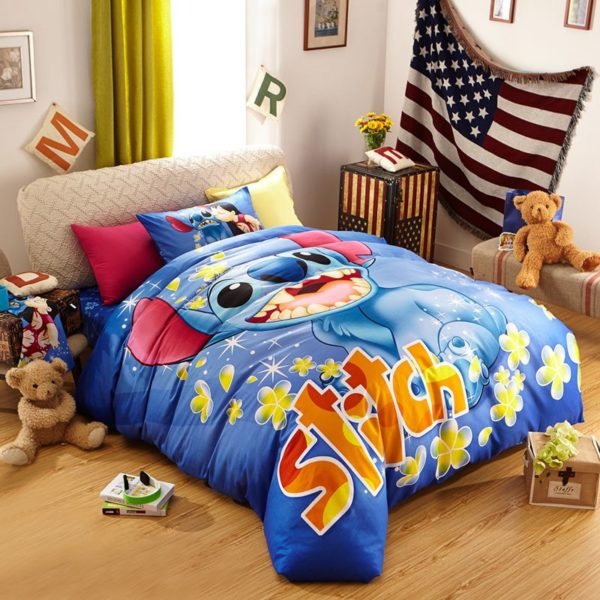 Disneys Lilo Stitch fictional character Bedding Set 1 600x600 - Disney's Lilo & Stitch  Fictional Character Bedding Set