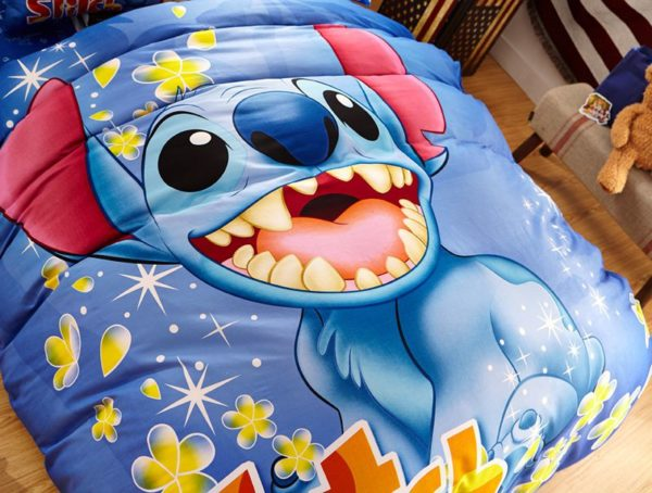 Disneys Lilo Stitch fictional character Bedding Set 9 600x454 - Disney's Lilo & Stitch  Fictional Character Bedding Set