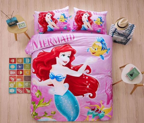 Disneys Little Mermaid Princess Bedding Set Twin Queen Size 1 600x515 - Disney's Little Mermaid Princess Bedding Set Twin Queen Size