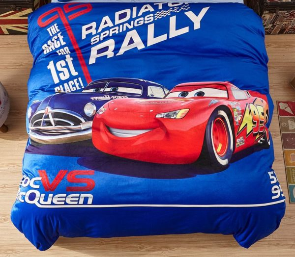 Doc Vs McQueen Game Disney Cars Kids Bedding 2 600x524 - Doc Vs McQueen Game Disney Cars Kids Bedding