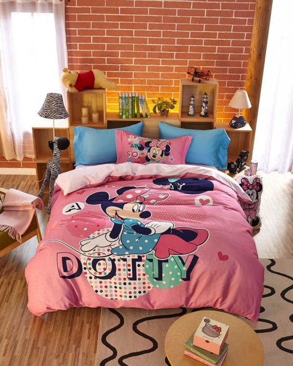 Dotty Minnie Mouse Bedding Set 11 600x748 - Dotty Minnie Mouse Bedding Set