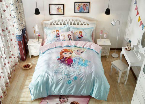 Elsa Anna Sisters Forever Frozen Bedding Set 7 600x431 - Elsa & Anna Sisters Forever Frozen Bedding Set