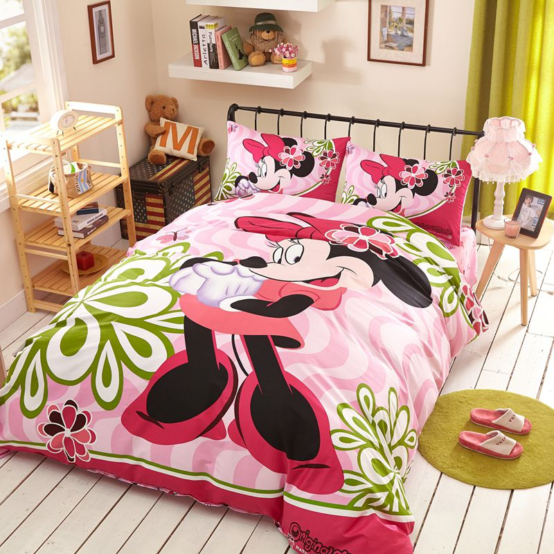 Fantastic Minnie Mouse Bedding Set Twin Queen Size