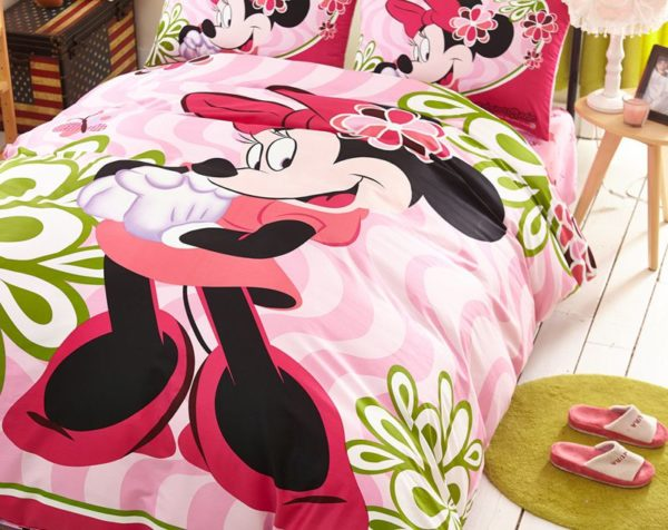 Fantastic Minnie Mouse Bedding Set Twin Queen size 5