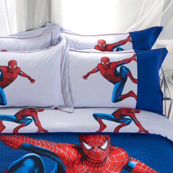 Fashionable Blue Color Spider Man Bedding Set 2