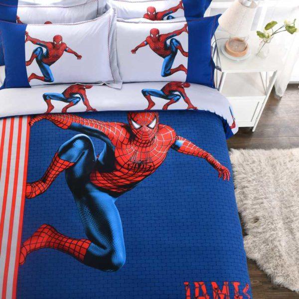 Fashionable Blue Color Spider Man Bedding Set 3