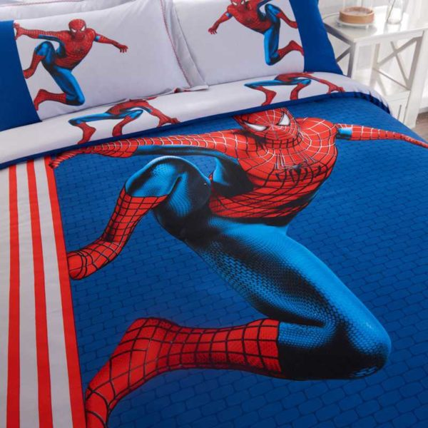 Fashionable Blue Color Spider Man Bedding Set 6