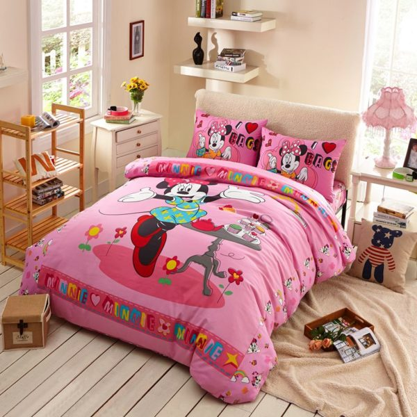 Girls Minnie Mouse Bedding Set Twin Queen Size 1 600x600 - Girls Minnie Mouse Bedding Set Twin Queen Size