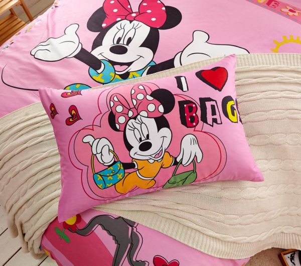 Girls Minnie Mouse Bedding Set Twin Queen Size 4 600x530 - Girls Minnie Mouse Bedding Set Twin Queen Size