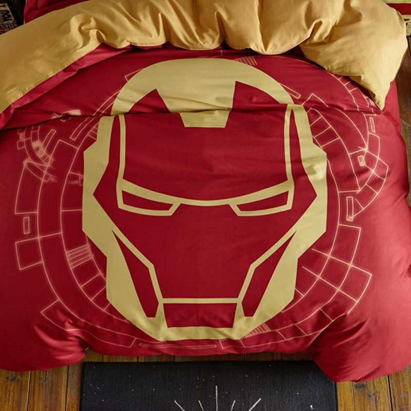 Indian Red Color Boys and Kids Iron Man Bedding Set ... - photo#49