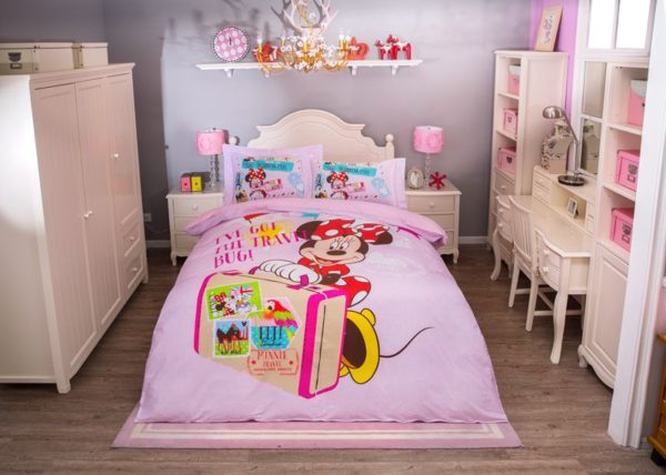 I've Got the Travel Mug Minnie Mouse Pink Bedding Set