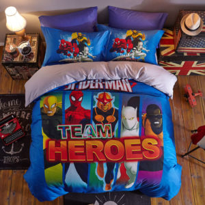 Kids Ideal Spider Man Team Bedding Set (1)