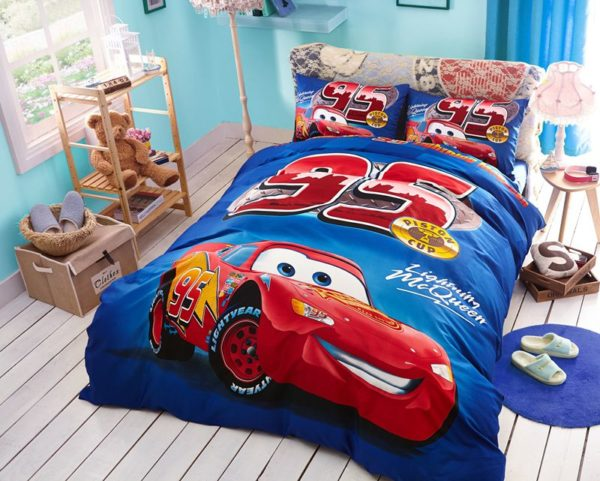 Kids Racing Car Movie Bedding Set