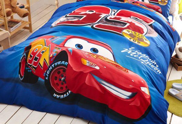 Kids Racing Car Movie Bedding Set 2 600x407 - Kids Racing Car Movie Bedding Set