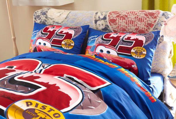 Kids Racing Car Movie Bedding Set 3 600x407 - Kids Racing Car Movie Bedding Set