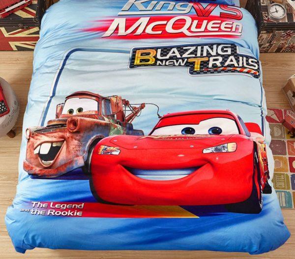 King Vs McQueen Game Disney Cars Kids Bedding 3