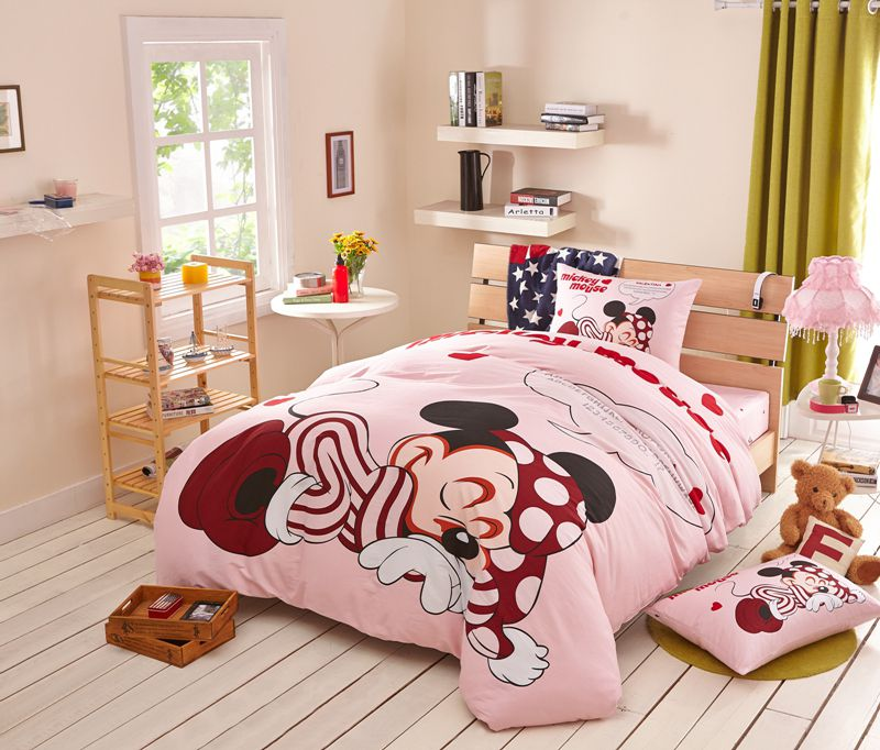 Lavender Blush Color Disney Mickey Comforter Set