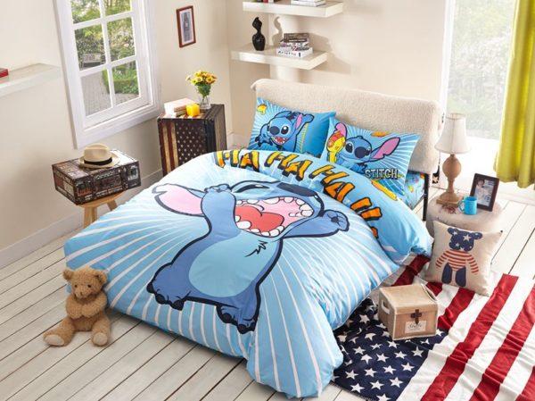 Lilo Stitch Bedding set Twin Queen Size 1 600x449 - Lilo & Stitch Bedding set Twin Queen Size