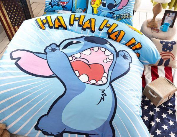 Lilo Stitch Bedding set Twin Queen Size 2 600x465 - Lilo & Stitch Bedding set Twin Queen Size