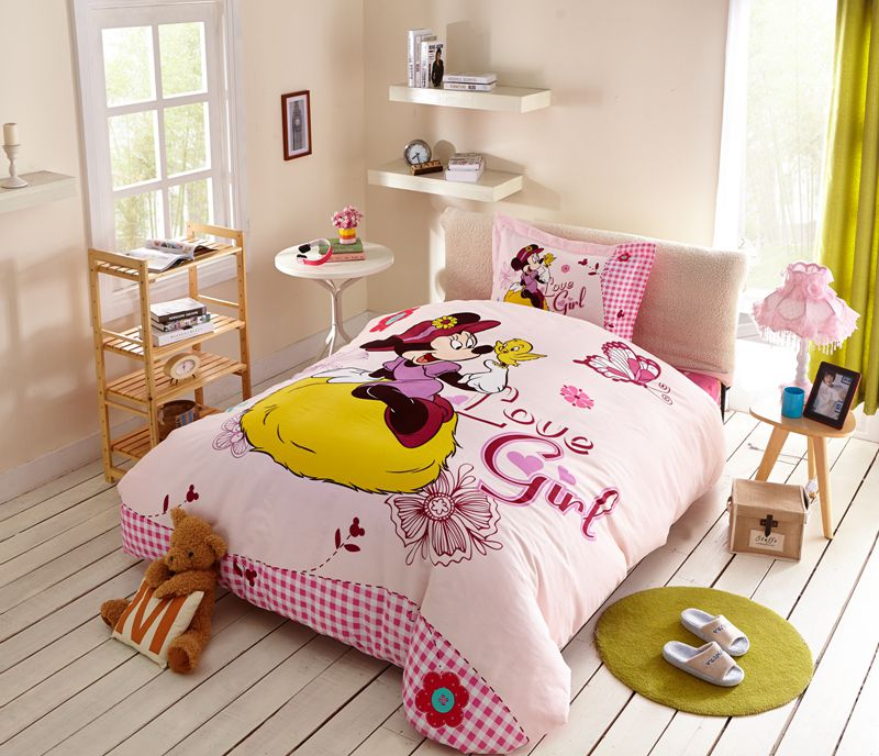 Love Girl Minnie Mouse Bedding Set Twin Queen Size | EBeddingSets